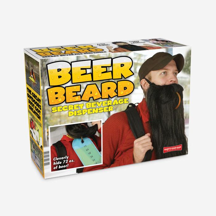 Barba cervecera: Barba falsa que oculta un depósito de cerveza del que beber cómodamente