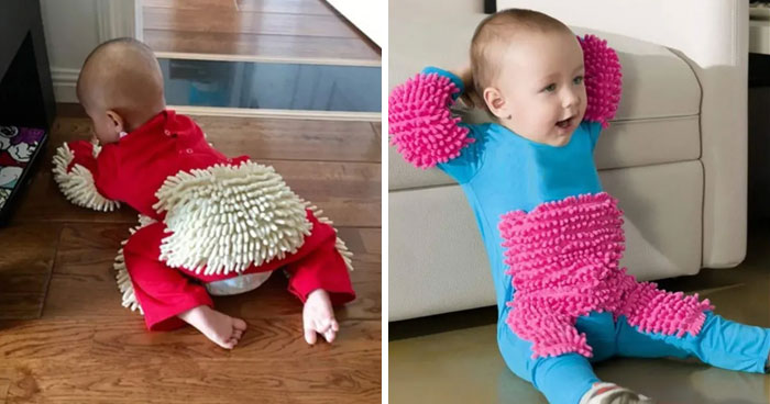Apparently, You Can Buy A Baby Mop-Onesie On Amazon And People Are Not So Sure About Them