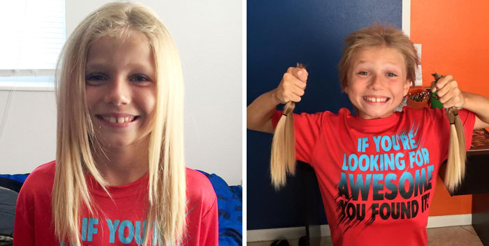 8-Year-Old Was Bullied For 2 Years While Growing His Hair Long To Make Wigs For Kids With Cancer