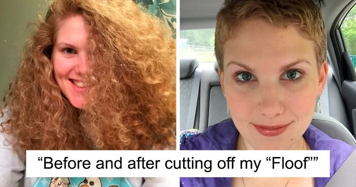 30 Pics Of People Before And After Cutting Their Long Hair