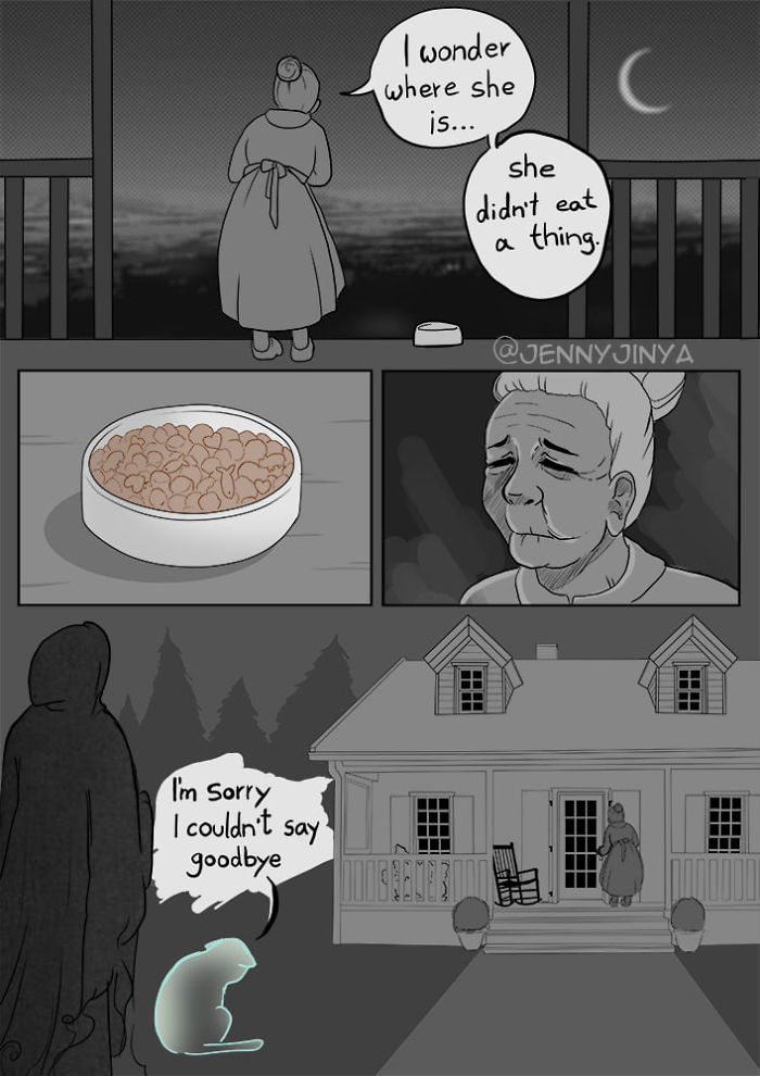 The Same Artist Who Made People Cry With Her Comic 'Good Boy' Just Shared A New One With A Black Cat
