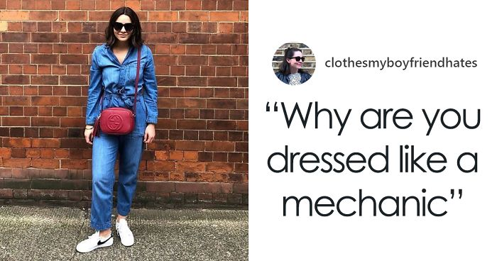 Woman Posts Outfit Pics Her Boyfriend Hates, Captions Each One With A Quote From Him (30 Pics)