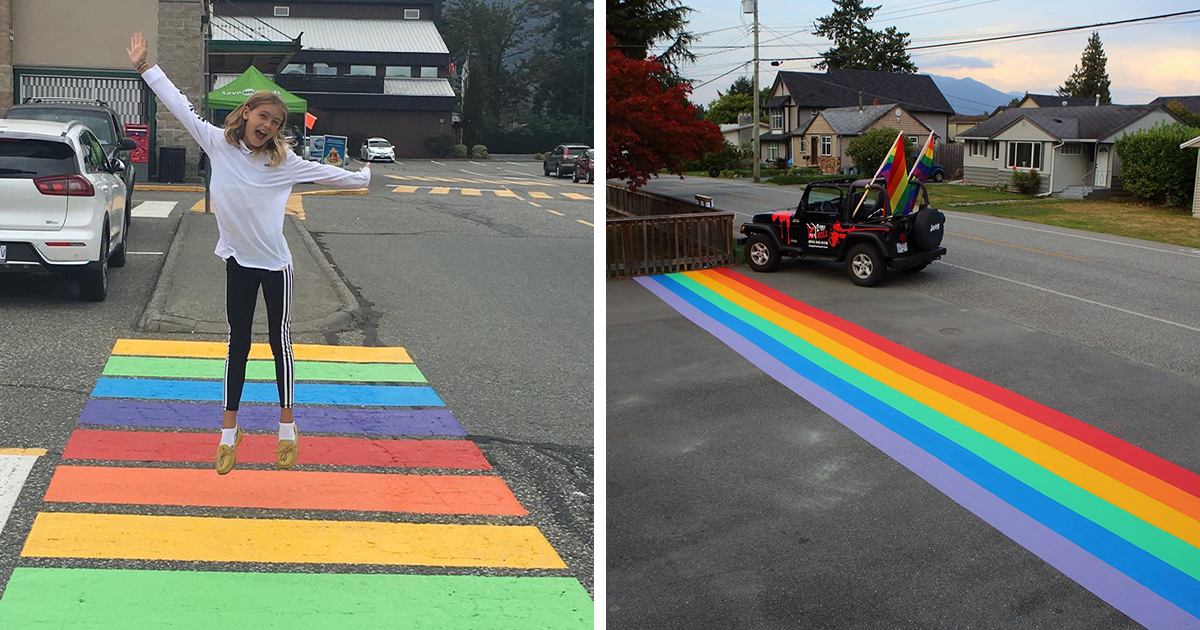After A City Council Voted Down A Rainbow Crosswalk, The Community Uses A Loophole To Paint 16 Of Them