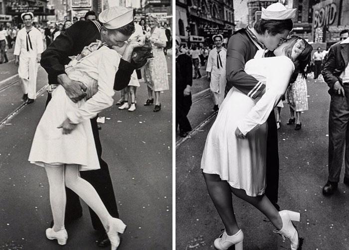 WW2 Kissing Photo