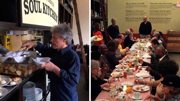 Bon Jovi Opened 2 Restaurants That Allow People In Need To Eat Free Of Charge
