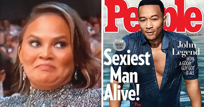 John Legend Is Named 2019's Sexiest Man Alive And His Wife Chrissy Teigen Can't Stop Trolling Him