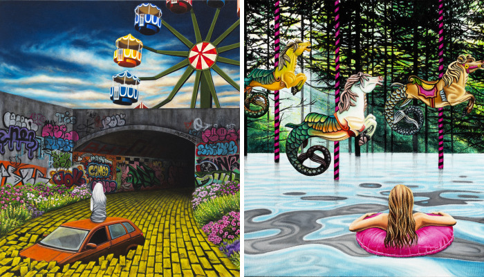 Despite The Fantasy, An Exhibition Of New Fantastical Paintings By Nicole Gordon, On View At Corey Helford Gallery