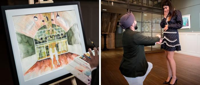 Artist Creates Perfect Surprise Proposal