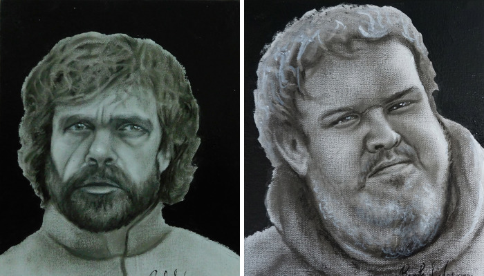 I Painted Characters From Game Of Thrones Using A Dry Brush Technique