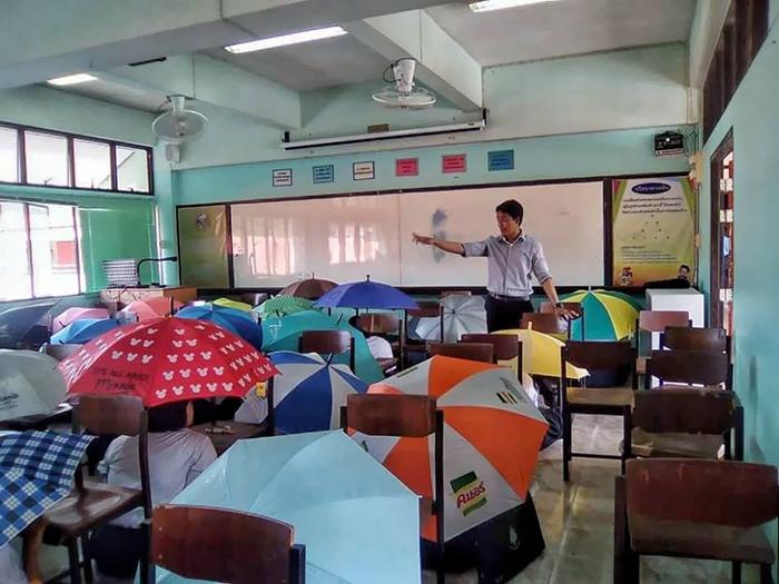 Anti-cheating umbrellas