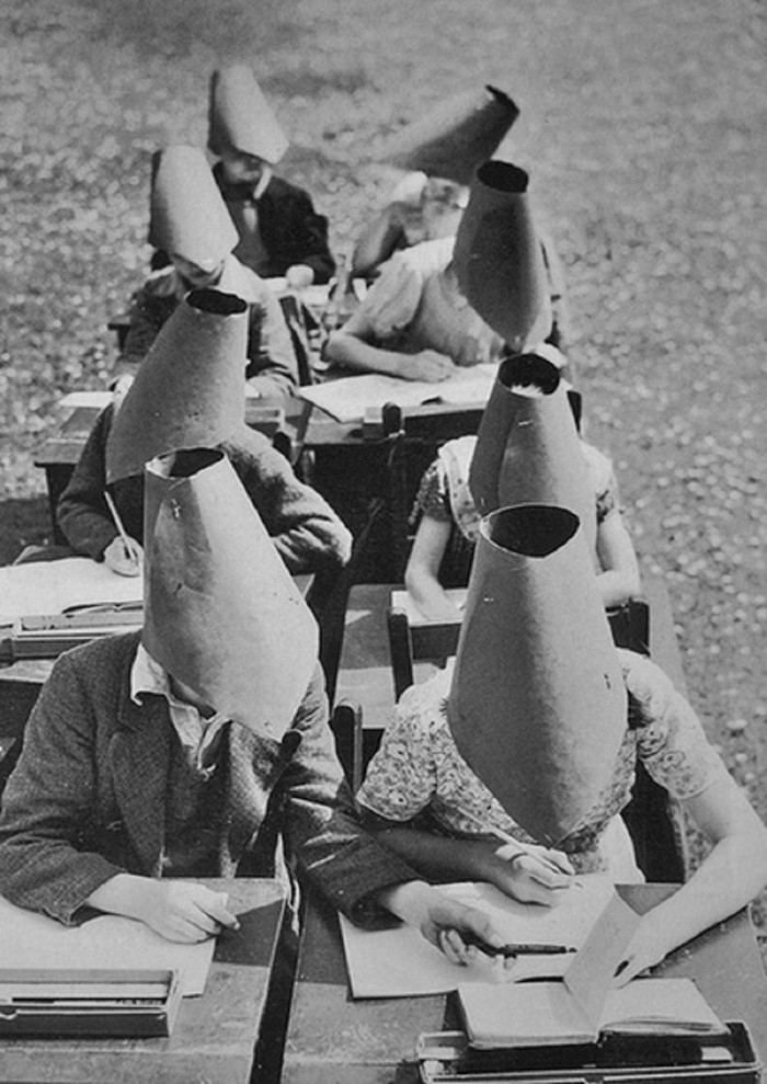 Vintage anti-cheating hats