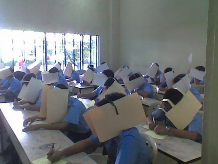 Anti-cheating hats