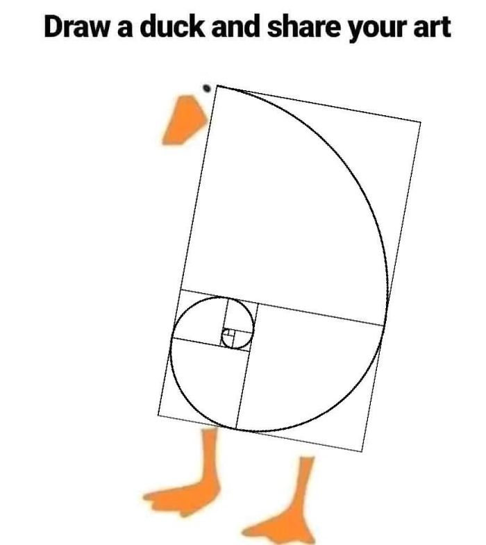 Drawing-Duck-People-Art
