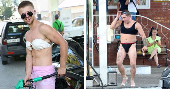 Russian Gas Station Offers Free Fuel For Anyone In A Bikini, Doesn't Expect Guys Would Dress Down, Too