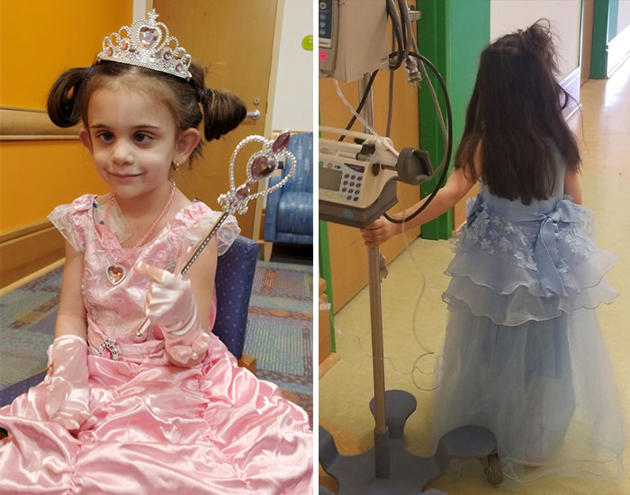 5-Year-Old Fights Cancer By Dressing Up In Different Disney Princess Dresses Before Each Chemo Treatment