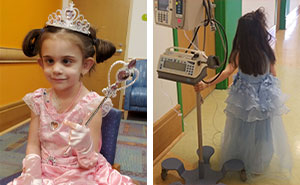 5 Y.O. Girl Wears Different Princess Dresses To Each Chemo Treatment