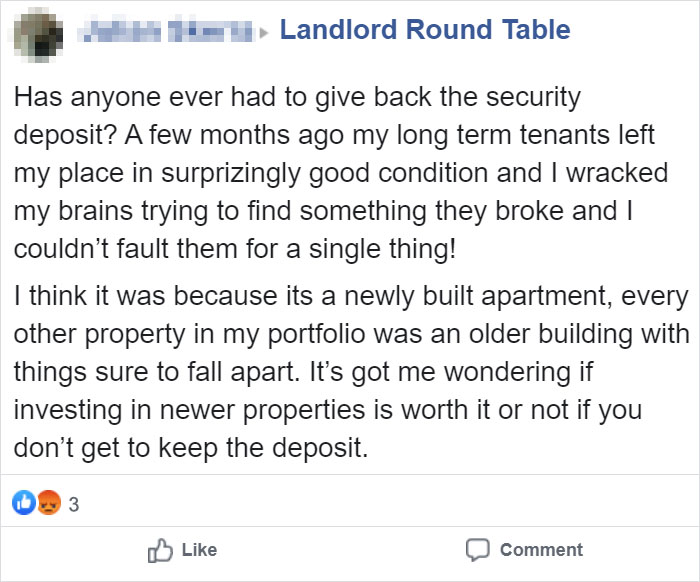 Jerk Landlord Accidentally Reveals Why Some Landlords Never Give Back Your Deposit