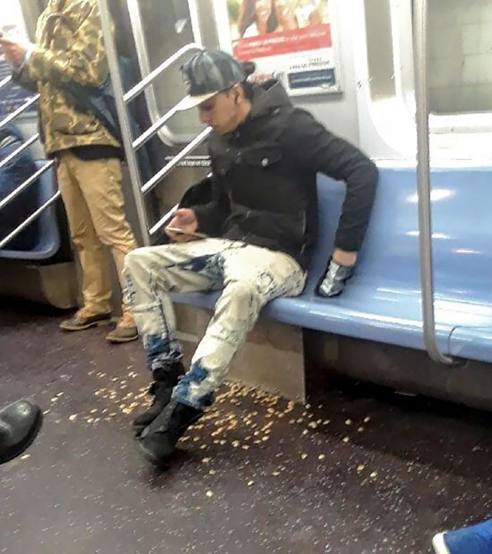 This Guy Eating Pistachios On The Train