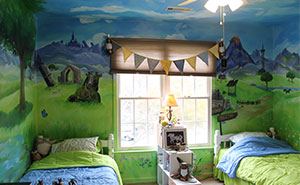10 Pics Of My Sister's Bedroom Which I Transformed Into A Scenery From The Legend of Zelda