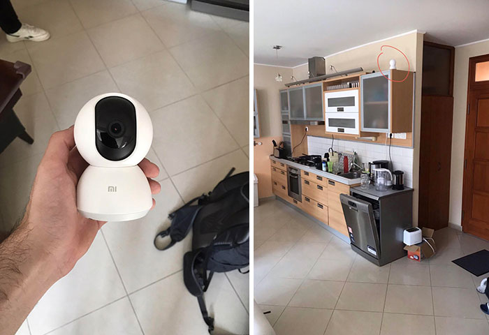 My Landlord Pretended To Do Work In The Flat But Ended Up Installing This 360° Wifi Surveillance Camera Which Also Records Audio Without Telling Me About It