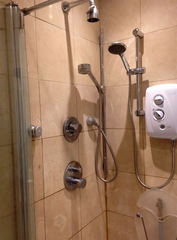 Each Time We Ask Our Landlord To Fix The Shower They Just Add A New Nozzle