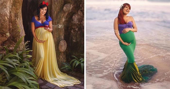 Brazilian Photographer Turns Moms-To-Be Into Disney Princesses (17 Pics)