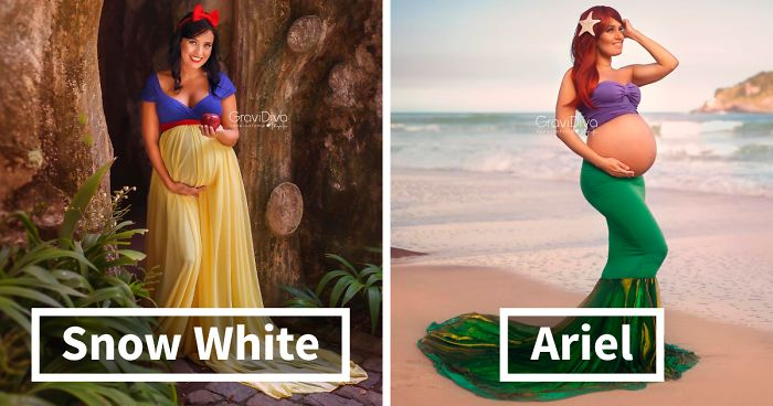 Brazilian Photographer Turns Moms To Be Into Disney Princesses 17 Pics Bored Panda