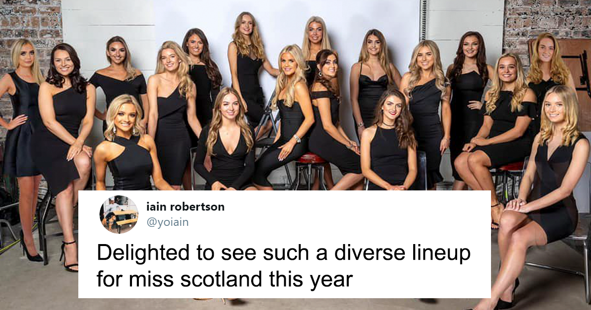 """Man Is Furious That """"Miss Scotland"""" Isn't Diverse Enough, Gets A Lesson In Demographics"""
