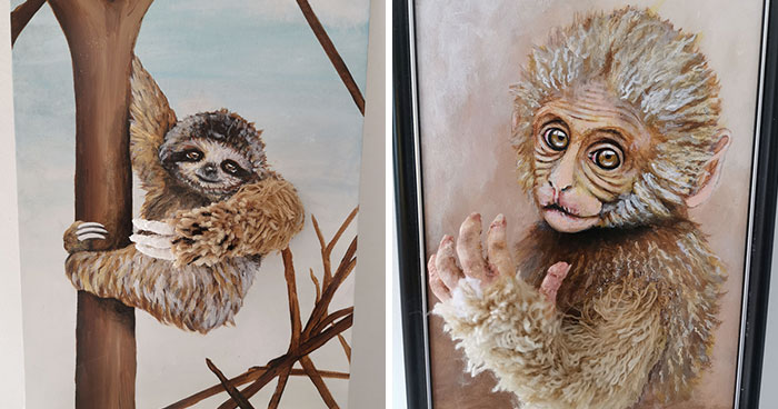 My 7 3D Animal Paintings On Canvas