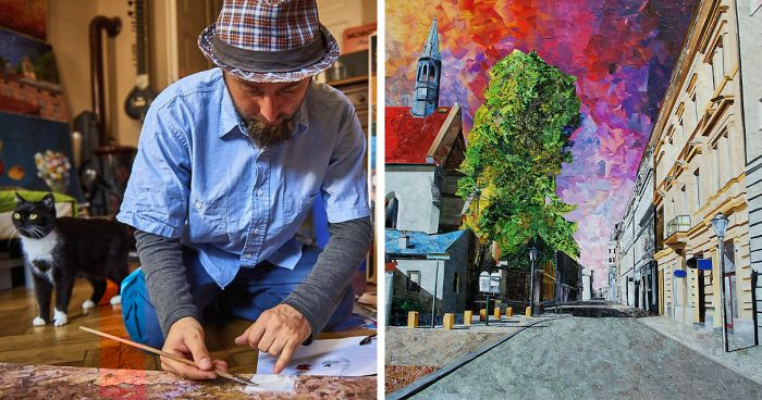 My 39 Paper Cityscapes That Look Like Oil Paintings