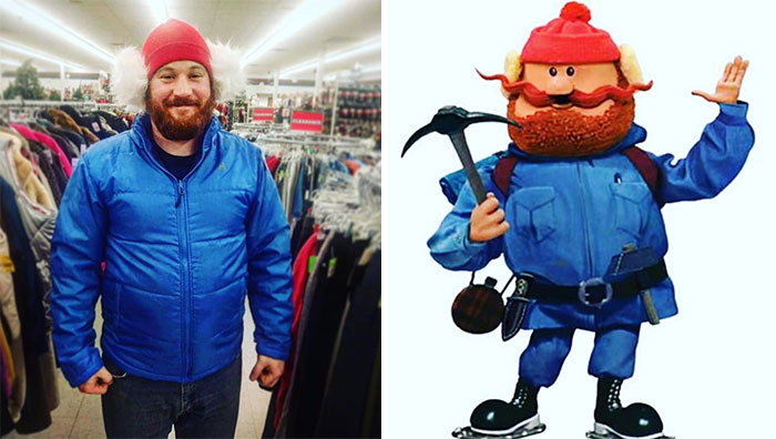 """""""Babe! I Found Everything!"""" """"I'm Not Buying It."""" """"But Babe! Just Be My Yukon Cornelius Pleeeeease!"""" The Things I Talk Him Into At Goodwill. At Least I Got Photographic Evidence!"""