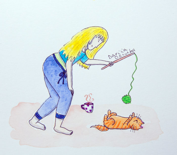 I Can't Go To Your Party Tonight. I'll Be Busy Playing With My Cat!