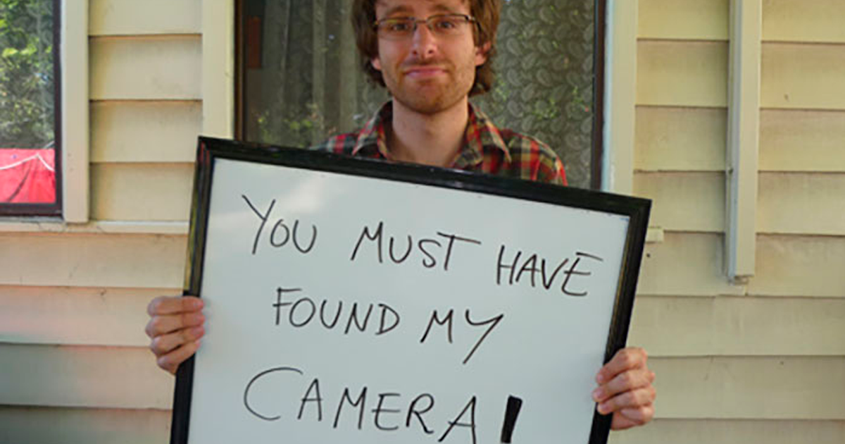 The Way This Guy Made Sure He Got His Lost Camera Back Is Genius