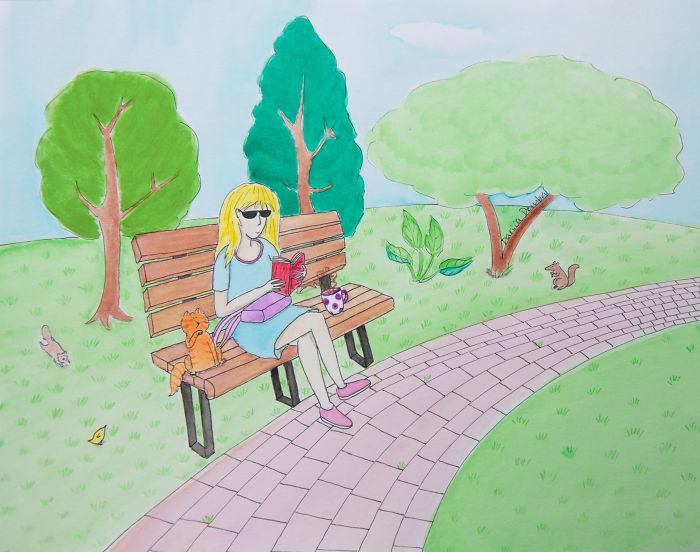 I Love Reading In The Park