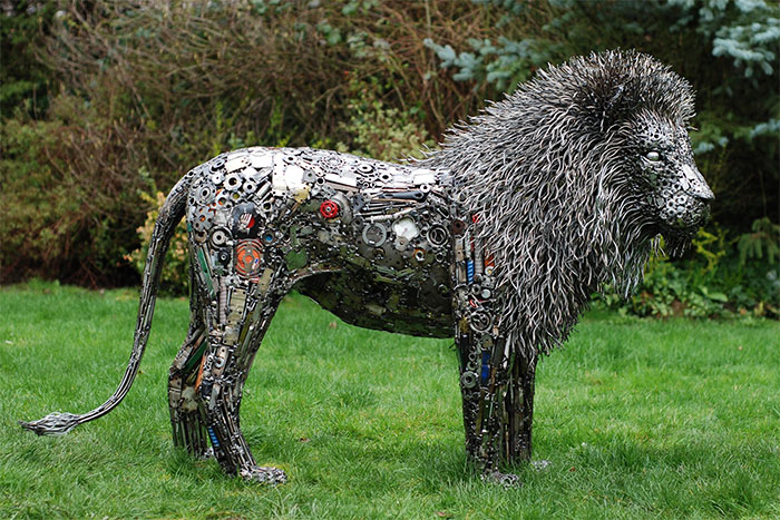 Self-Taught American Artist Turns Reclaimed Materials Into Breathtaking Sculptures (30 Pics)