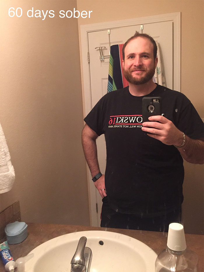 Guy Stops Drinking Alcohol, Shows How Much Sobriety Changed Him In 3 Years