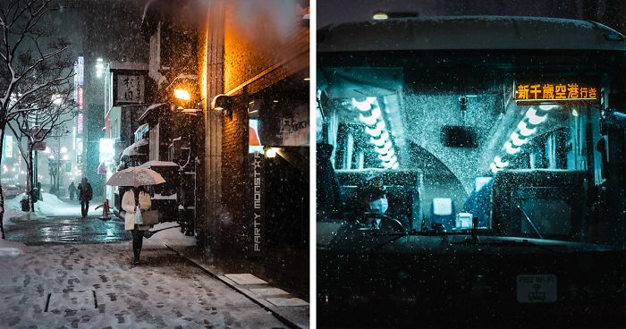 I Spent 3 Weeks In Japan This Winter, Here Are My Best Cyberpunk And Noir Film Inspired Photographs (33 Pics)