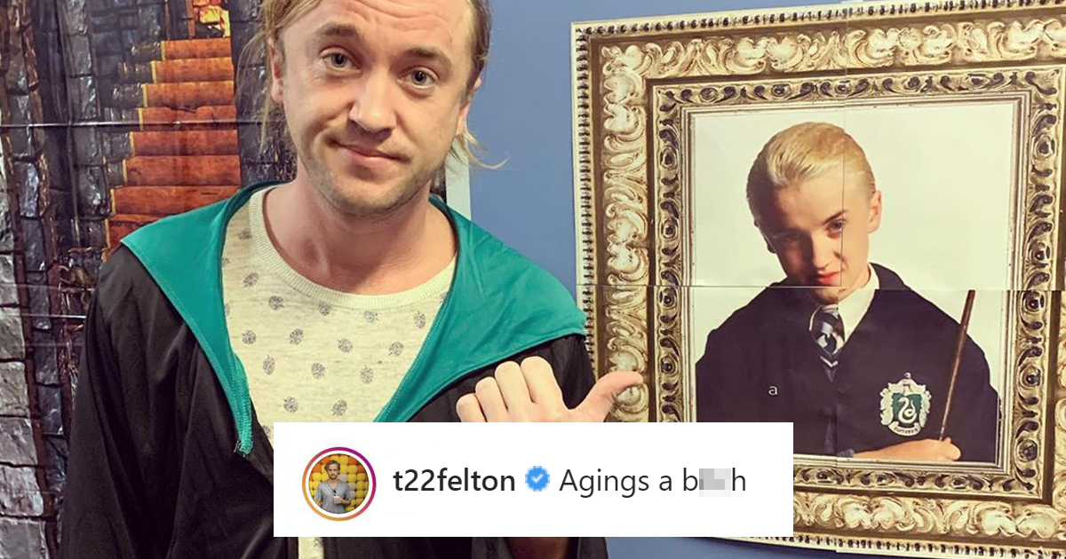 """Harry Potter"" Stars Tom Felton And Matthew Lewis Share Their Views On Aging And They're Very Different"