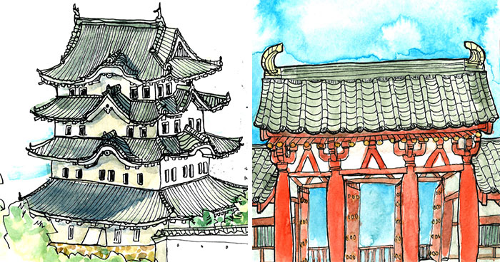 Architect Kathryn Larsen Sketches Her Trip To Japan And It's An Amazing Way To Get To Know A Country And Its Culture