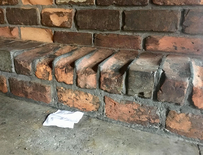 300-Year-Old Bar's Footrest, Brick Wore Away Faster Than Mortar
