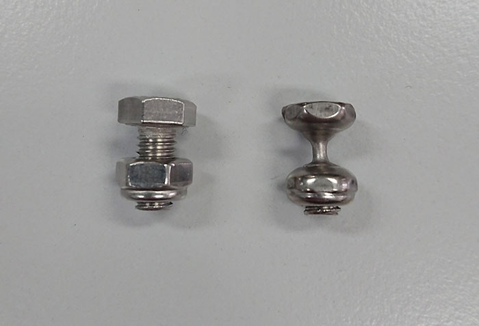 The Vibration Wear On This Stainless Steel Bolt