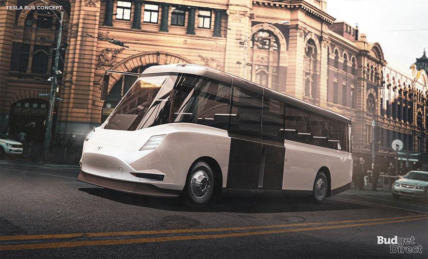 City Transit Bus 2020 tesla concept vehicles