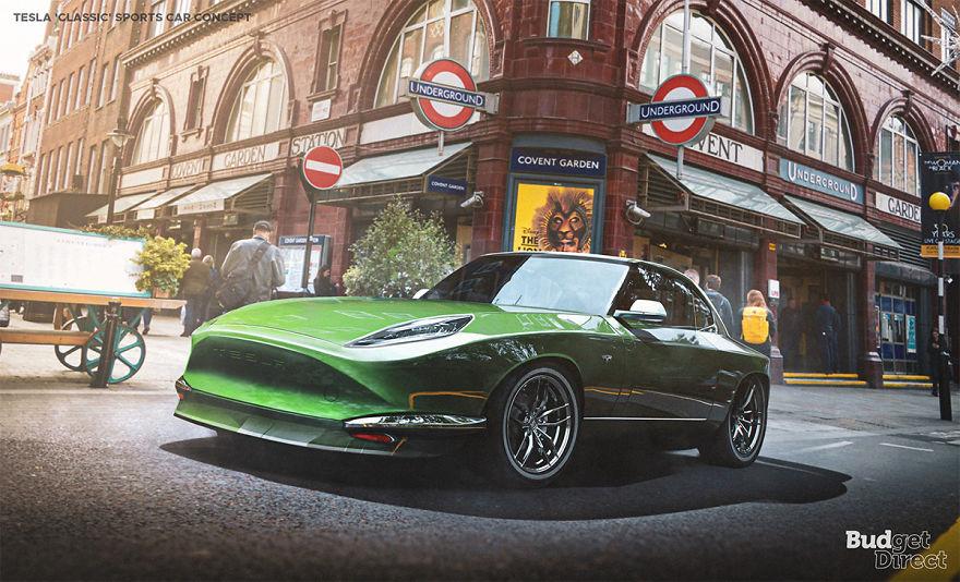 Classic Sports Car 2020 tesla concept vehicles