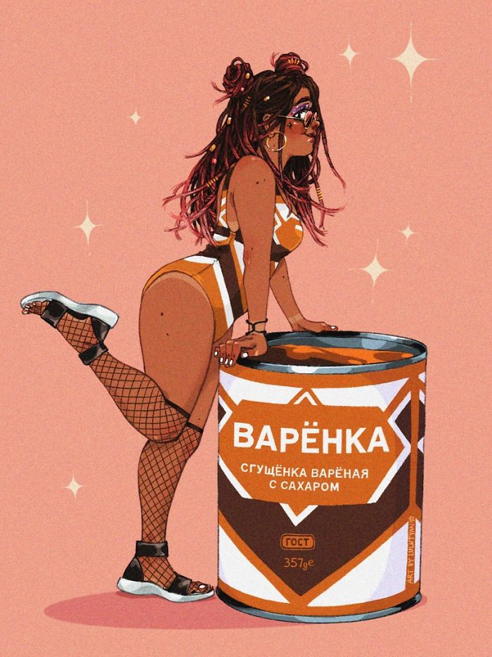 This Illustrator Turned Famous Products In Russia Into Girls