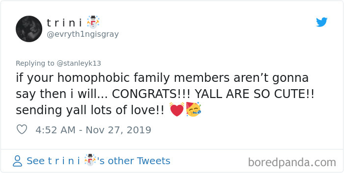 Lesbian Woman Makes Sure Her Entire Homophobic Family Knows About Her Engagement And The Post Goes Viral