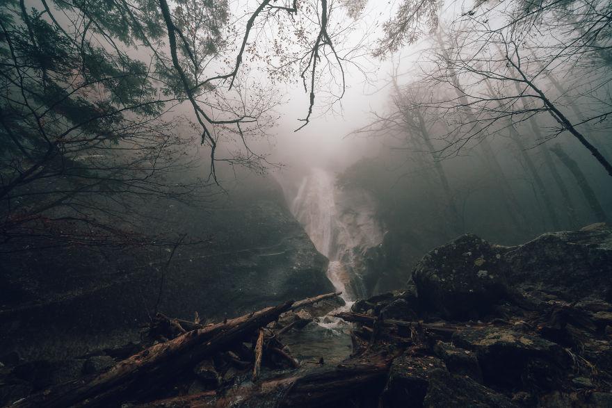 Fudo Falls In Mt. Mizugaki