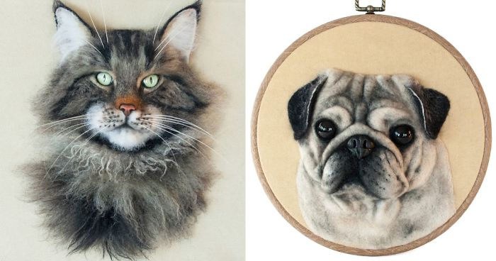 I Use Sheep's Wool To Create Realistic Felted 3D Portraits Of Animals (32 Pics)