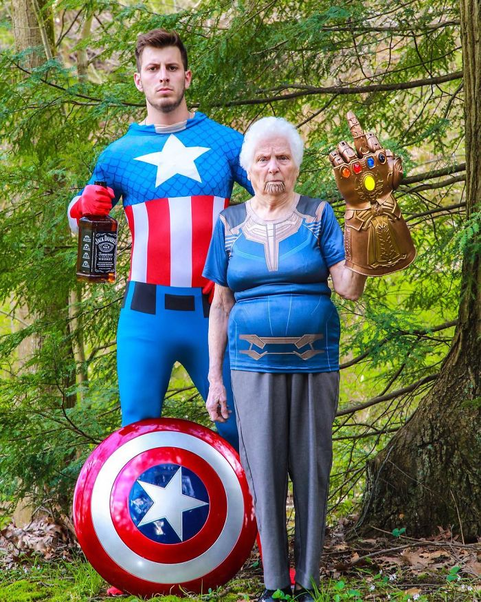93-Year-Old Grandma & Her Grandson Dress-Up In Ridiculous Outfits, And People Love It (30 Pics)