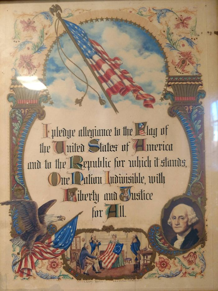 This Antique American Pledge Of Allegiance Does Not Reference God