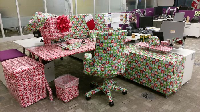 My Co-Worker Told Me I Had No Holiday Spirit So I Wrapped Him A Gift